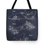 1982 Bobsled Blackboard Patent Print Tote Bag