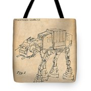 1982 Star Wars At-at Imperial Walker Antique Paper Patent Print Tote Bag