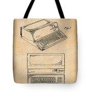 1983 Steve Jobs Apple Personal Computer Antique Paper Patent Print Tote Bag