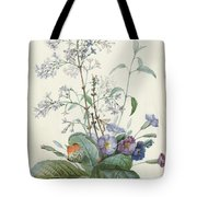 A Bouquet Of Flowers With Insects  Tote Bag