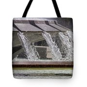 Arthur J. Will Memorial Fountain At Grand Park Tote Bag