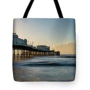 Beautiful Vibrant Sunrise Landscape Image Of Worthing Pier In We Tote Bag