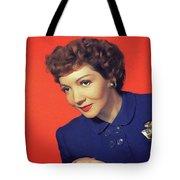 Claudette Colbert, Vintage Movie Star Tote Bag