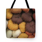 Colored Yarn Tote Bag
