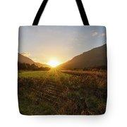 Glen Lyon Sunset Tote Bag