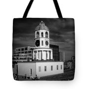 Halifax Town Clock 2017 Black  And White Tote Bag