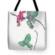 Hibiscus 2 -  Watercolor By Ahmet Asar Tote Bag