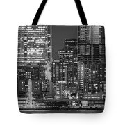 Illuminated City At Night, Seattle Tote Bag