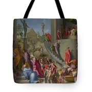 Joseph With Jacob In Egypt  Tote Bag