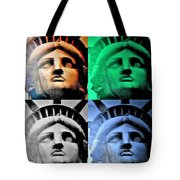 Lady Liberty In Quad Colors Tote Bag