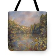 Lakeside Landscape  Tote Bag