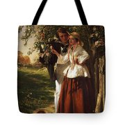 Lovers Under A Blossom Tree Tote Bag