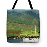 Maui Sunset Sail Tote Bag