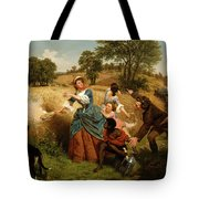 Mrs  Schuyler Burning Her Wheat Fields On The Approach Of The British  Tote Bag