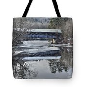 New England College Covered Bridge Tote Bag