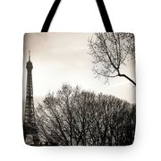 Paris  Eiffel Tower At Sunset Tote Bag