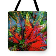 Plants And Leaves Hawaii Tote Bag