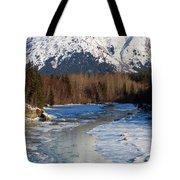 Portage Creek Portage Glacier Highway, Alaska Tote Bag
