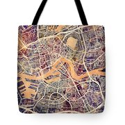 Rotterdam Netherlands City Map Tote Bag