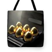 Six Golden Eggs In An Egg Carton Tote Bag