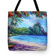 Soufriere Bay St Lucia Tote Bag