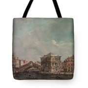 The Grand Canal Above The Rialto  Tote Bag
