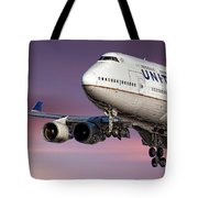 United Airlines Boeing 747-422 Tote Bag