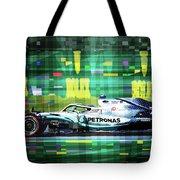 2019 Australian Gp Mercedes Bottas Winner Tote Bag