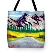 2019#01_mountain Lake Tote Bag