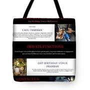 21st Birthday Venue Melbourne Tote Bag