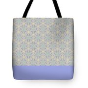 A Repeating Pattern Featuring A Multi-colored Conceptual Flower  Tote Bag