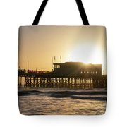 Beautiful Vibrant Sunrise Landscape Image Of Worthing Pier In We Tote Bag