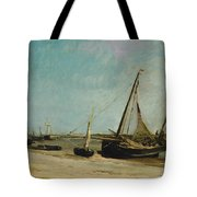 Boats On The Seacoast At Etaples  Tote Bag