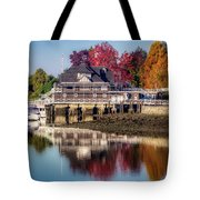 Colorful Autumn Foliage At Stanley Park Tote Bag by Andy Konieczny