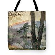 Digital Watercolor Painting Of Beautiful Landscape Image Of Tarn Tote Bag