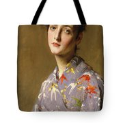 Girl In A Japanese Costume Tote Bag