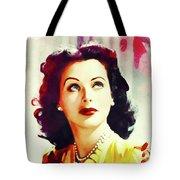 Hedy Lamarr, Vintage Movie Star Tote Bag