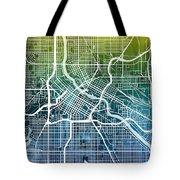 Minneapolis Minnesota City Map Tote Bag