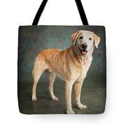 Portrait Of A Labrador Mixed Dog Tote Bag