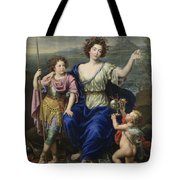 The Marquise De Seignelay And Two Of Her Sons  Tote Bag