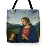 The Virgin And Child With An Angel  Tote Bag