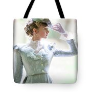 Victorian Woman In The Garden Tote Bag