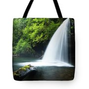 Waterfall In A Forest, Samuel H Tote Bag