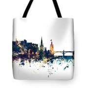 Edinburgh Scotland Skyline Tote Bag