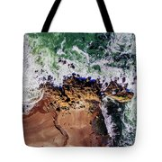 Aerial View Of The Beach, Newport Tote Bag