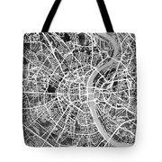 Cologne Germany City Map Tote Bag