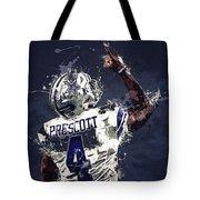 Dallas Cowboys.dak Prescott. Tote Bag