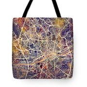 Frankfurt Germany City Map Tote Bag