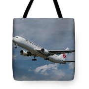 Japan Airlines Boeing 767-346 Tote Bag