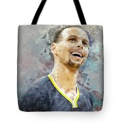 Portrait Of Stephen Curry Tote Bag